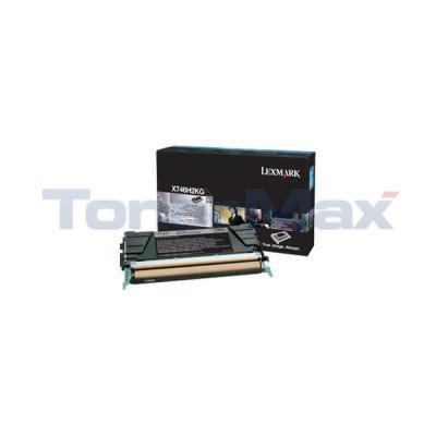 LEXMARK X746 TONER CARTRIDGE BLACK HY